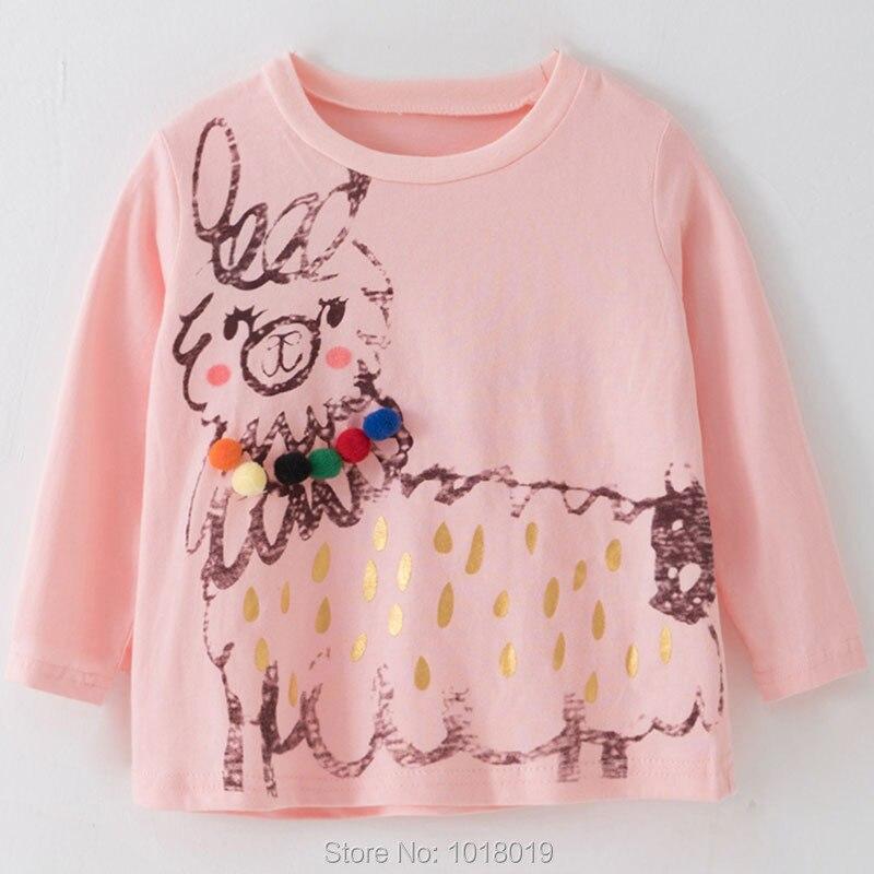 Brand 100% Cotton Baby Girls t shirts 1-7Y Kids Clothing Clothes Children Long Sleeve t-shirt Girls Blouses Undershirt Tops 2020 4