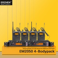 Freies Verschiffen Bühnen Monitor System EM2050 IEM 4 Tasche Monitor Drahtlose Mikrofon Optional Frequenz