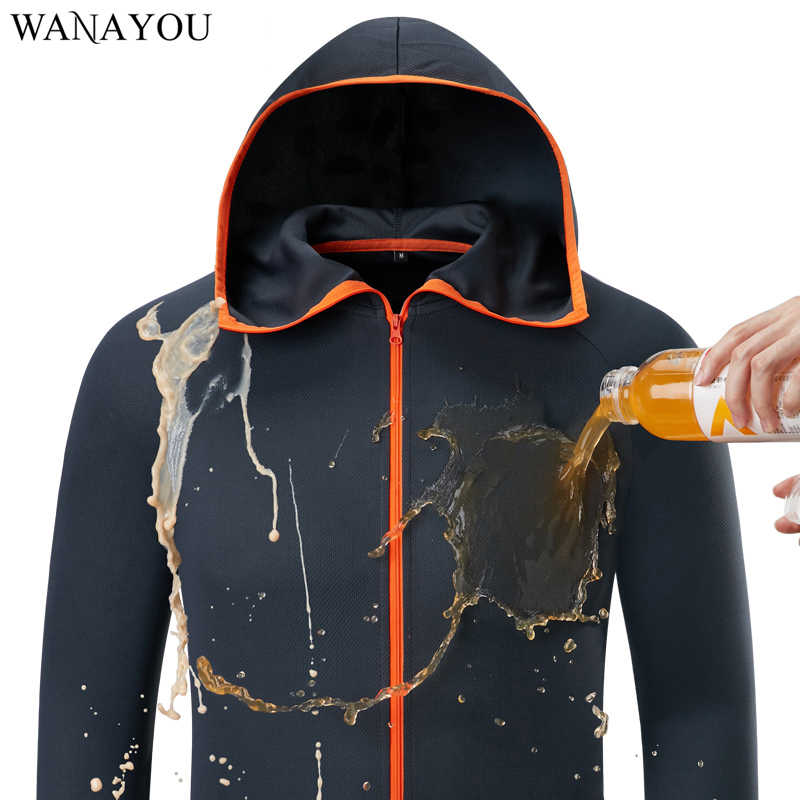 Water Repellent Ice Silk Men Hiking Jackets,Hydrophobic Fishing Outdoor Clothing,Quick Dry Anti-Fouling Camping Hunting Jacket