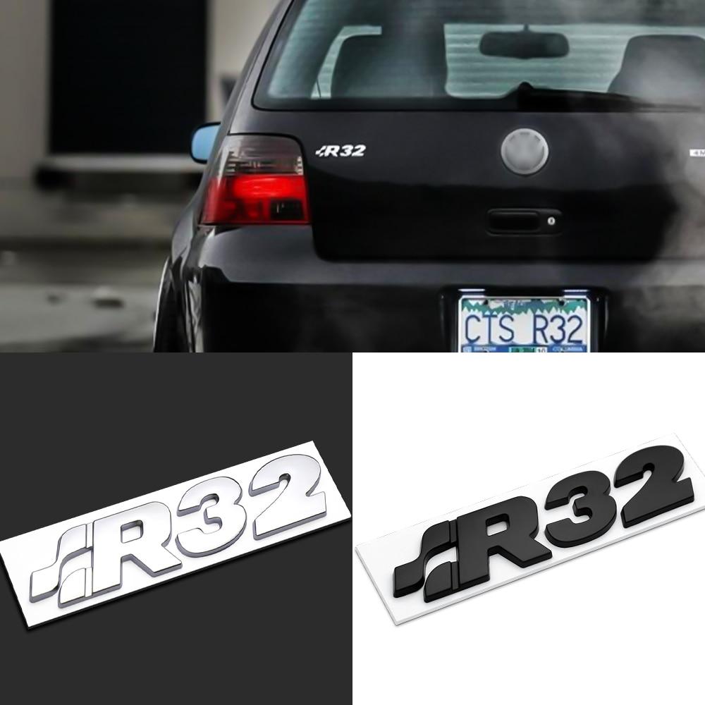 3D сплав автомобильный R32 значок задний багажник боковой кузов наклейка для VW Passat B6 B8 Golf 4 Lupo Bora Lupo MTM Motion CADDY Lupo Scirocco