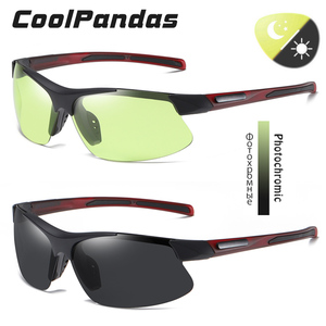 Image 2 - 브랜드 야외 스포츠 Photochromic 선글라스 남자 Polarized Day Night Vision Sun Glasses 레이디 운전 고글 lentes de sol hombre