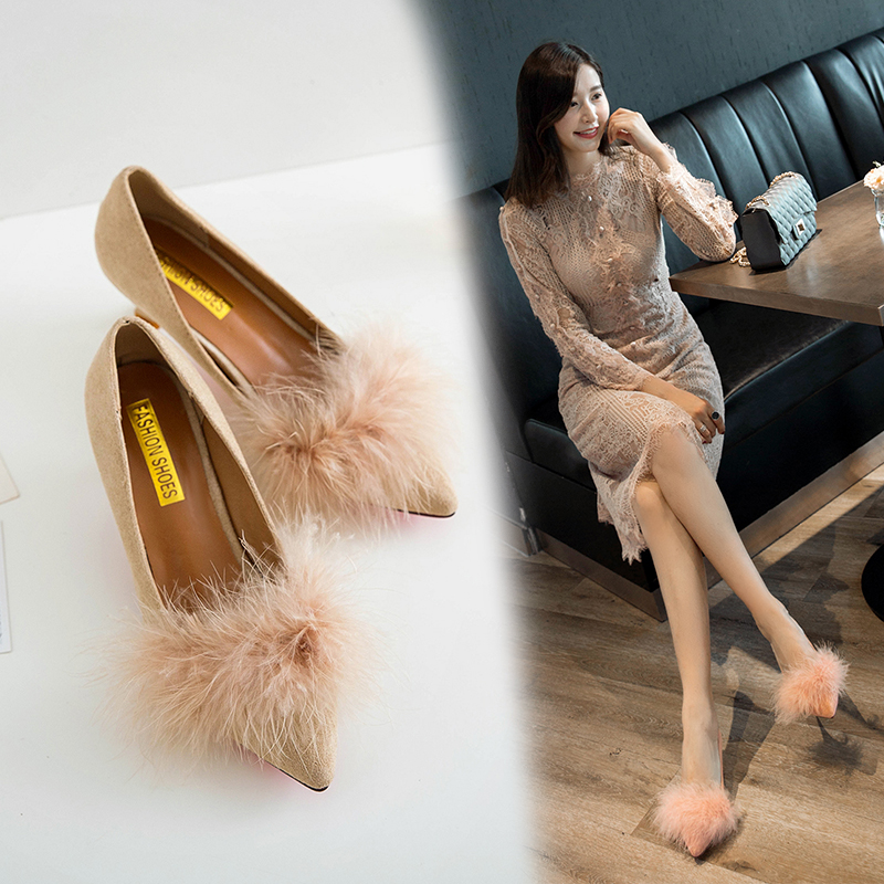 ZHENZHOU shoes Women Pumps high heels autumn 2018 new female scoop shoes small with single shoes female 5cm cat with shoes 21