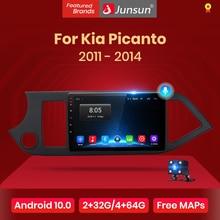 Junsun V1 4G + 64G CarPlay Android 10 DSP Kia Picanto 2011   2014 için araba radyo multimedya video oynatıcı GPS RDS 2 din dvd
