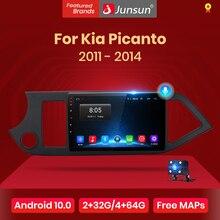 Junsun V1 4G + 64G CarPlay Android 10 DSP dla Kia Picanto 2011   2014 Radio samochodowe multimedialny odtwarzacz wideo GPS RDS 2 din dvd