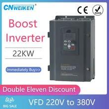 Frequenz von 220V zu 380V 3 phase VFD Variable Frequency Drive Converter für 22kw(30HP) motor Speed Control Frequency Inverter