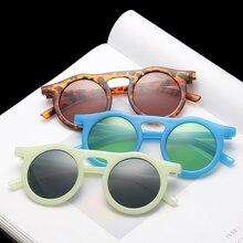 Круглые Солнцезащитные очки vwktuun для мужчин яркие цвета круглые