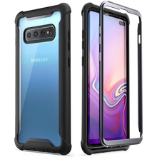 I BLASON For Samsung Galaxy S10 Plus Case 6.4 inch Ares Full Body Rugged Clear Bumper Cover WITHOUT Built in Screen Protector
