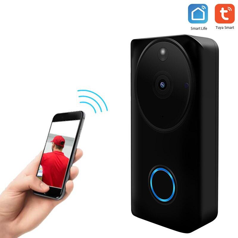 Smart Wifi Doorbell Wireless Video Intercom Camera Night Vision Pir Motion Sensor tuya smart life App Battery not include|Home Automation Modules| |  - title=