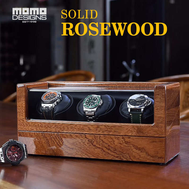 Luxury Natural Solidwood Watch Winder Customized Battery Powered Wooden Automatic Watch Winders Single