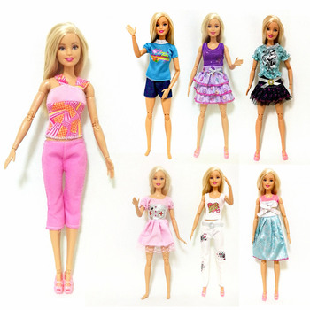 Summer Dress Outfit Sets for 1:6 30cm BJD FR SD Doll Clothes Dollhouse Roll Play Accessories cute animal outfit for bjd doll 1 12 pukipuki doll clothes