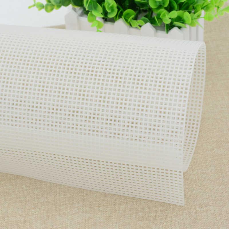 פלסטיק רשת בד תיק שטיח חוט וו קרפט ספקי DIY Handcraft וו תפס אבזר וו מלאכות עמיד רשת על 33*50
