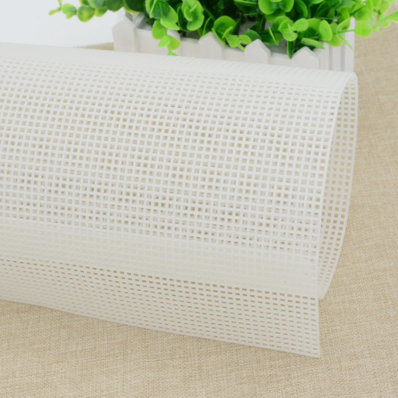 Plastic Mesh Cloth Bag Rug Thread Hook Craft Supplies DIY Handcraft Latch Hook Accessory Hook Crafts Durable Grid About 33*50(China)