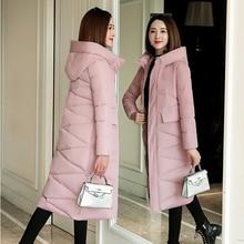 Plus Size 3XL Women Parkas Winter Hooded Warm Coat Slim Cotton Padded Basic Jack