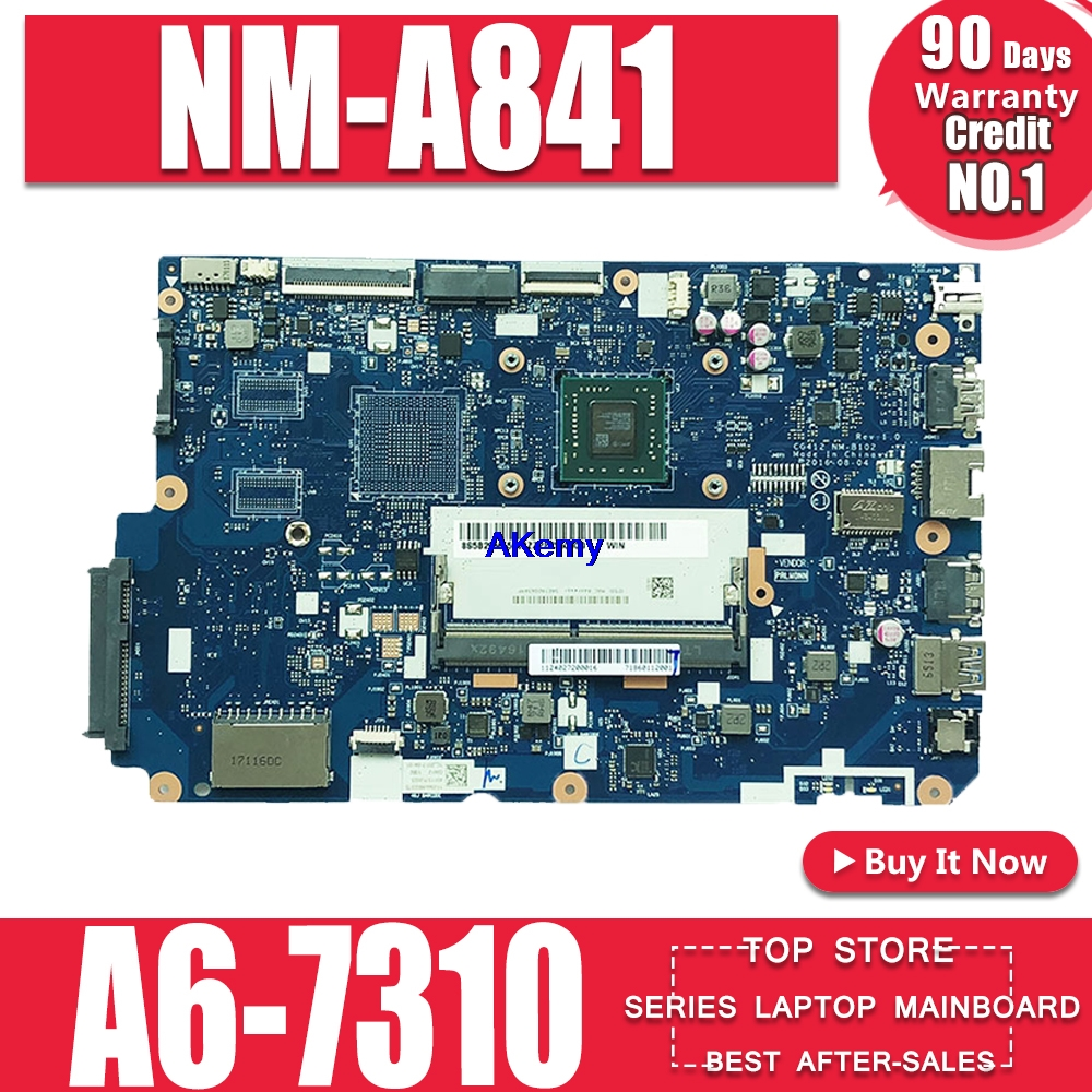 Applicable To Lenovo 110-15ACL CG521 NM-A841 Notebook Motherboard CPU A8-7410 DDR3 100% Test Work