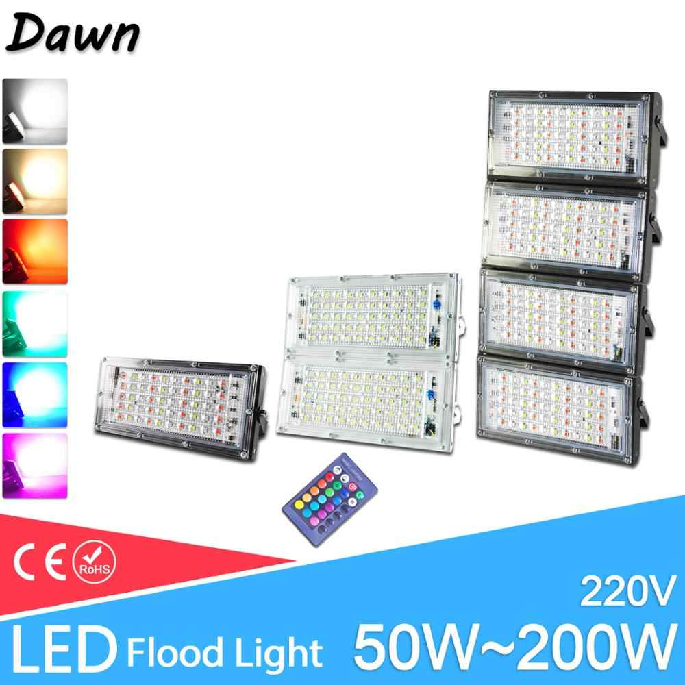 LED Flood Light 50W 100W real power RGB Floodlight LED street Lamp 220V 240V waterproof  outdoor Lighting IP65 led spotlight