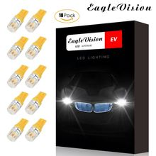 Premium Quality 10pcs DC12V T10 Car Width Lamps Yellow Lighting Side Interior Lights Decoding Light