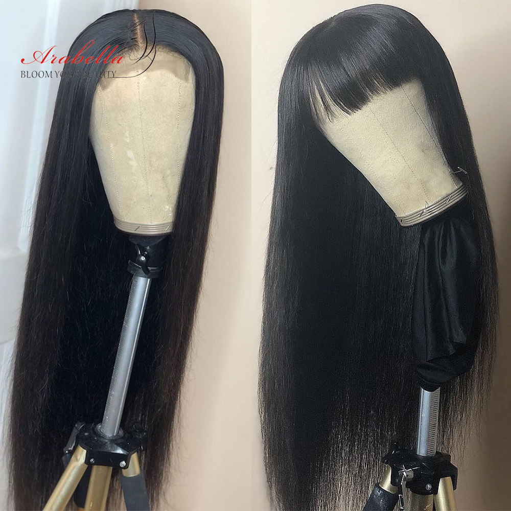 Straight Hair Lace Wig 180% Density 100%  Wigs With Baby Hair Arabella   4*4 Wig Pre Plucked Closure Wig 2