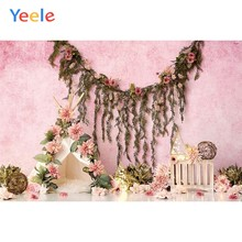 Yeele Baby Birthday Wedding Flower Scene Pink Floral Photography Backdrops Personalized Photographic Background For Photo Studio(China)