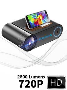 CRENOVA 2019 новейший HD 720P светодиодный проектор для 1080P беспроводной WiFi мультиэкранный видео проектор 3D HDMI VGA AV проектор