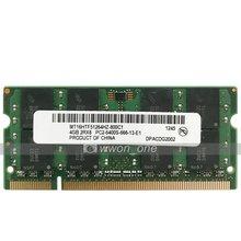 Sheli 4gb DDR2-800MHz PC2-6400 200pin sodimm computador portátil notebook atualização de memória para dell latitude e6400