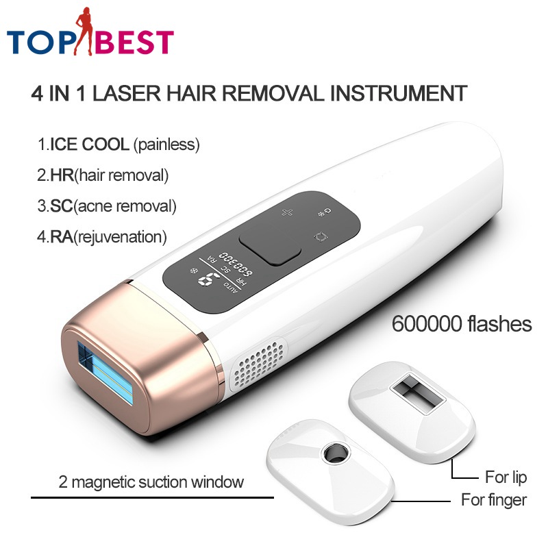 Osenyuan 600000 Times 4in1 IPL Epilator Permanent ICE Cool Hair Removal With LCD Display Machine Laser For Body Bikini