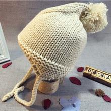Новая Брендовая детская шапка для младенцев, вязаная Вязаная Шапка-бини зимняя теплая шапка, шапка, Детские кепки, аксессуары