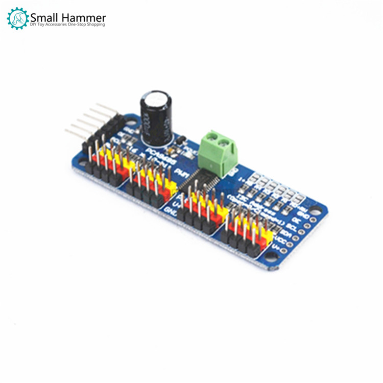 16-channel PWM Servo Drive Board Controller Robot IIC For MG90S SG90 MG995