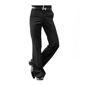 Image 1 - メンズフレアズボン正式なパンツ男性のダンススーツパンツファッションサイズ28 33黒