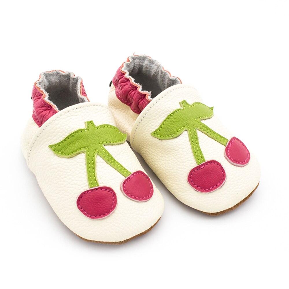 Sapatos de bebê macio genuíno couro de
