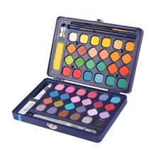 24 color 36 color 48 color solid watercolor gouache paint brush set learning non-toxic painting supplies washable art supplies недорого