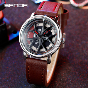 Image 5 - Car Wheel Watch Men Personality 360 Degree Rotating Watches Waterproof Quartz Wristwatch SANDA Top Brand Luxury tourbillon reloj