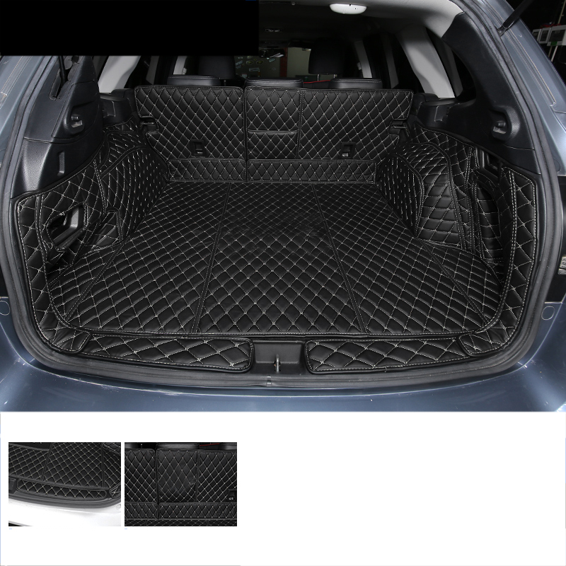 Lsrtw2017 Leather Car Trunk Mat Cargo Liner For Subaru Outback 2015 2016 2017 2018 2019 2020  Rug Carpet Interior Accessories