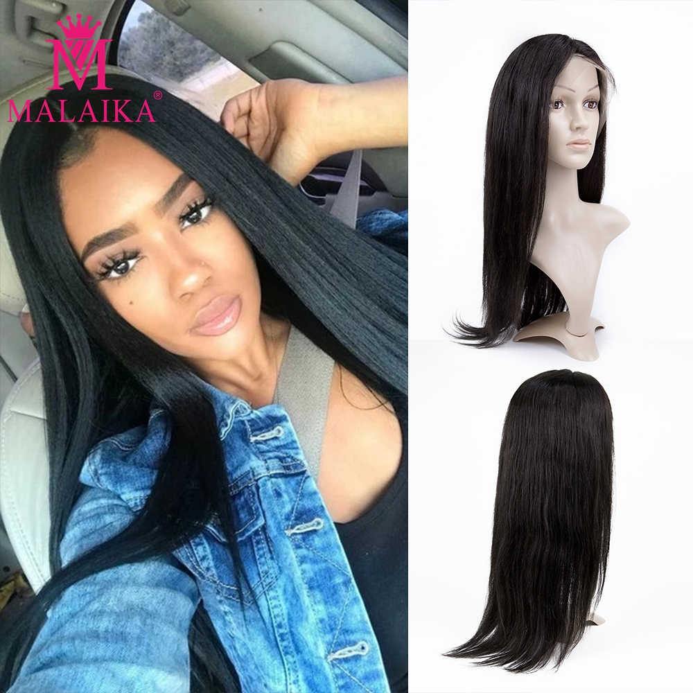 """MALAIKA 13X4 Lace Front Wig For Black Women Long 26""""Inch Heat Resistant Straight Wigs Natural Human Hair Wigs Hair"""