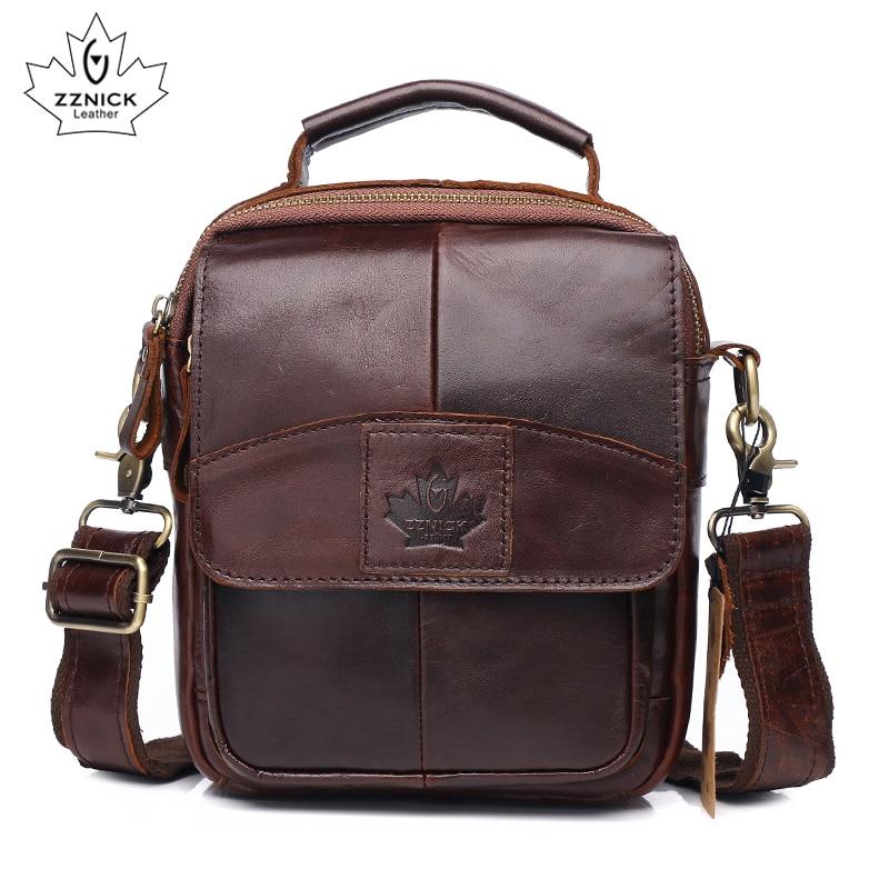 Men's Shoulder Handbag Genuine Leather Bag Messenger Bag For Men Shoulder Bags Fashion Flap Luxury Handbag Crossbody Bags ZZNICK
