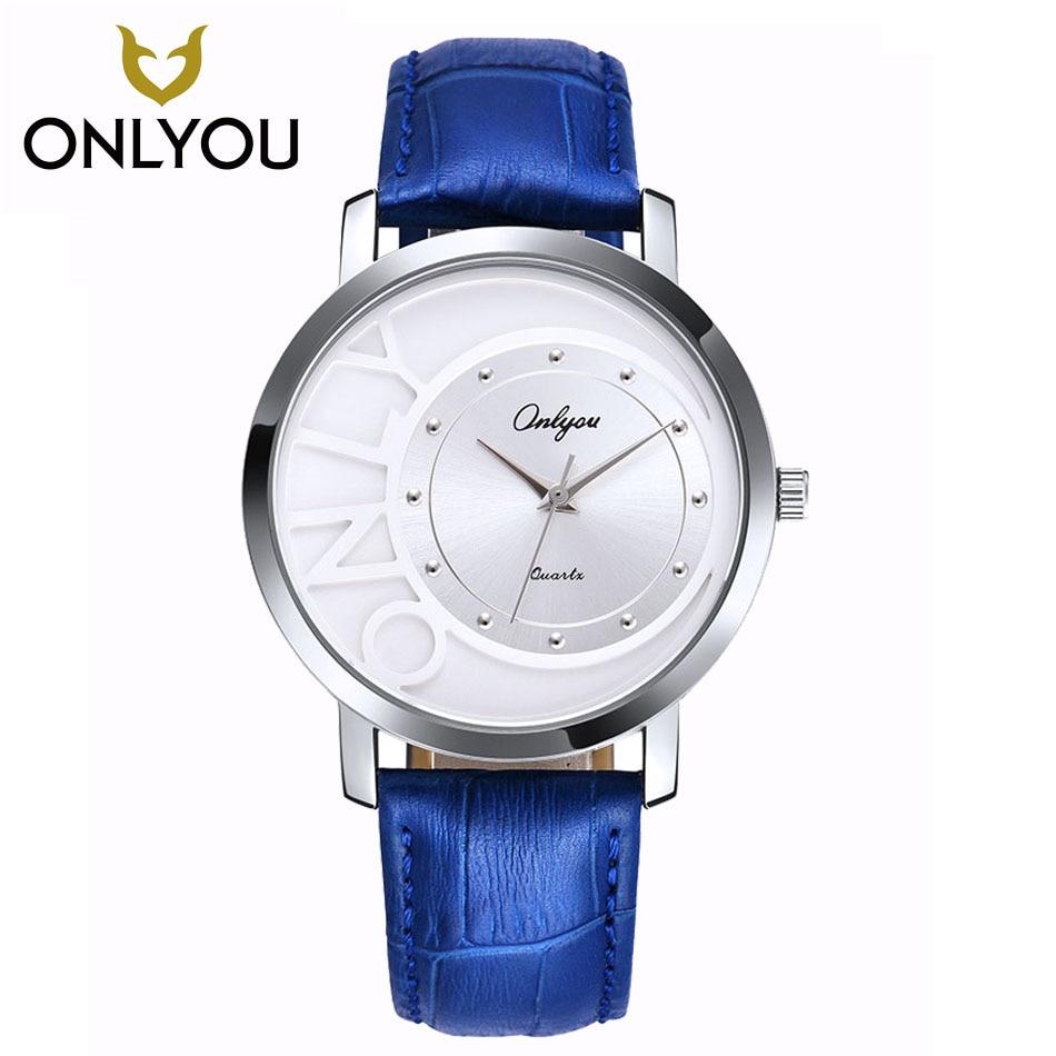 ONLYOU New Lovers Watch Top Band Luxury Fashion Quartz Women Diamond Wristwatches Relogio Black Watch 81013
