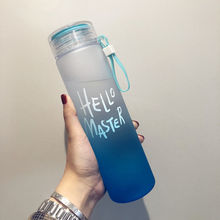 Новая пластиковая бутылка для воды Спорт 500 мл переносная веревка детская посуда наружная герметичная печать Тыква скалолазание бутылки для воды