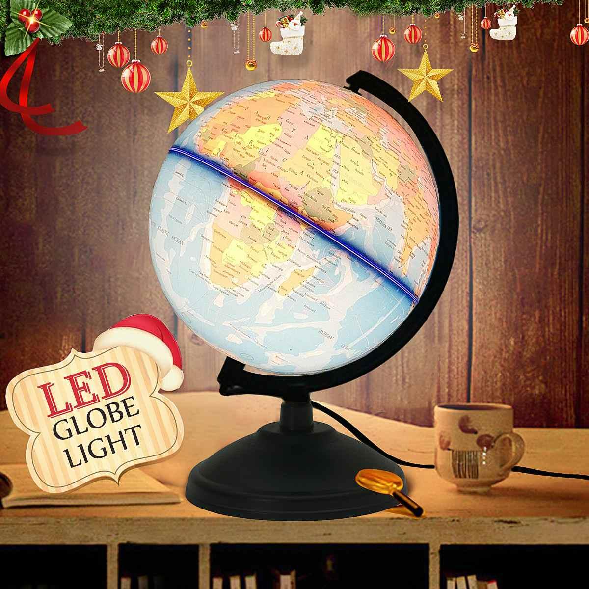 Mundo de la luz LED tierra Mapa de la tierra juguete educativo con el soporte de la oficina en casa miniaturas ideales gadgets de oficina de regalo