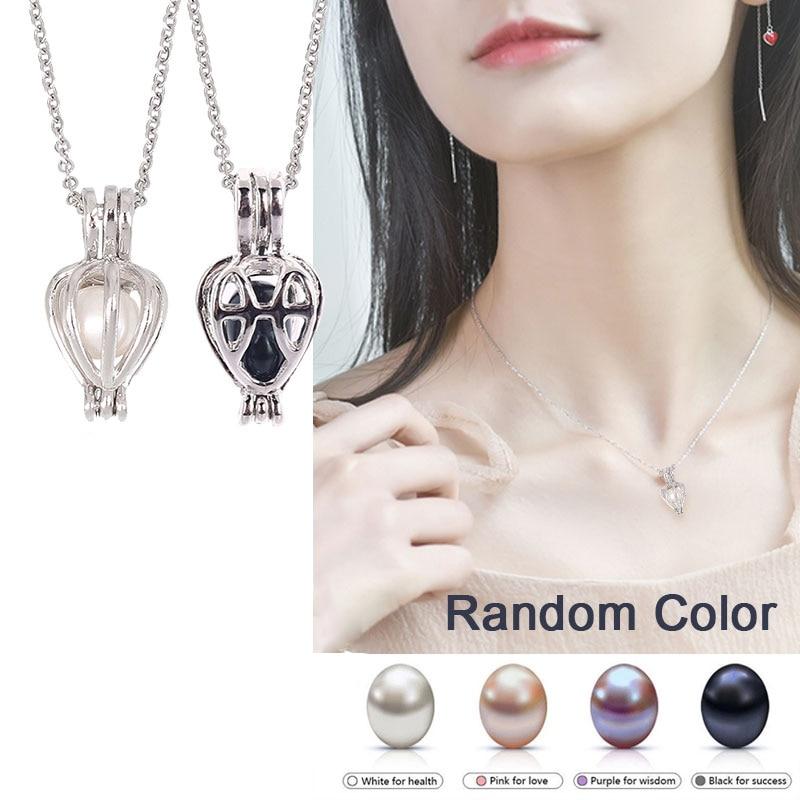 5 жемчужин, натуральный жемчуг, подвеска, ожерелье, подвеска, Подарочная коробка, Популярные Модные женские ювелирные изделия, подарок на уд...