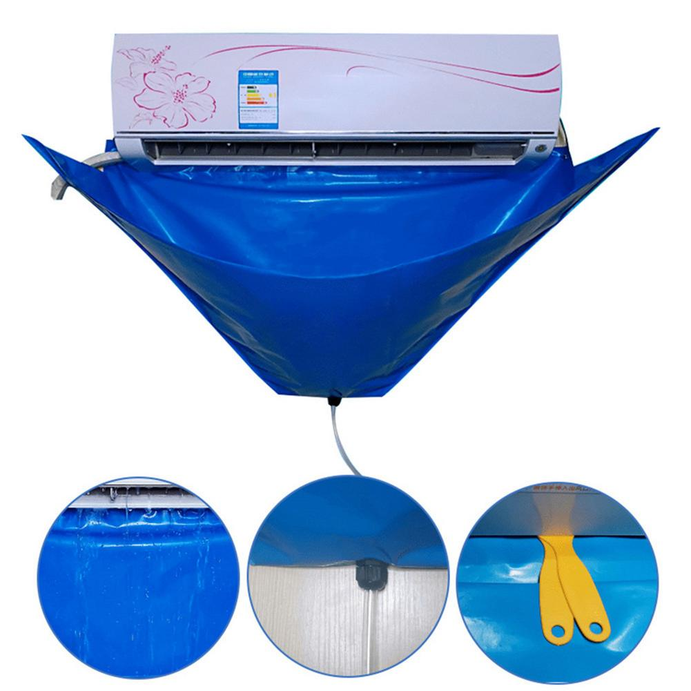 Air Conditioner Cleaning Cover with Water Pipe Protection Cleaning Cover Washing Bag for Wall Mounted Air Conditioner Below 1.5P