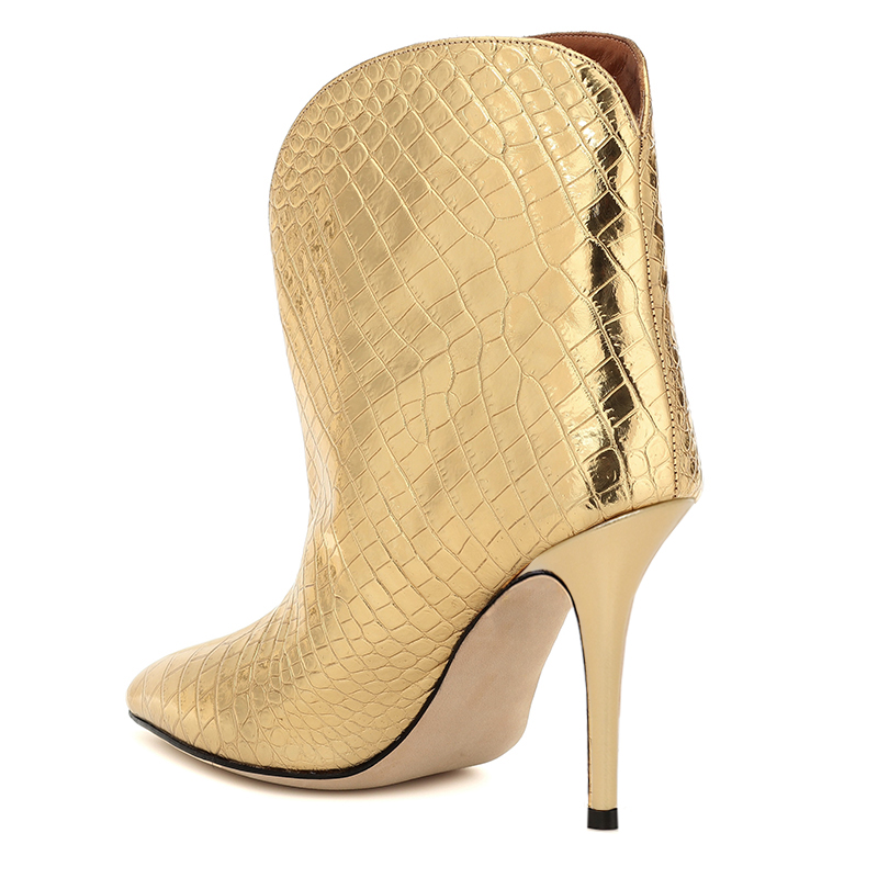 gold ankle boots (2)