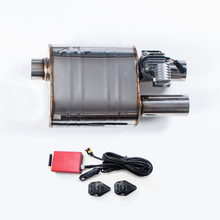 Electronic Exhaust Valve Muffler System Electric Remote Control With Bypass