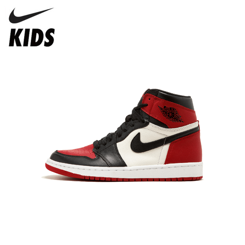 Nike Air Jordan 1 Original Kids Shoes New Arrival Children Basketball Shoes Comfortable Outdoor Sneakers #555088-610