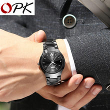 OPK Men Watch Fashion Quartz Watch With Calendar Simple Watch Luxury Waterproof Business Wristwatch light cozy For Men Watch(China)