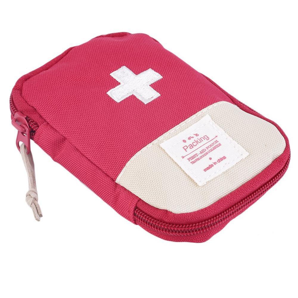 Аптечка первой помощи, медицинская сумка, прочная, для отдыха на природе, для дома, для выживания, портативная, сумка для первой помощи, сумка, чехол, портативная, 3 цвета на выбор - Цвет: Red