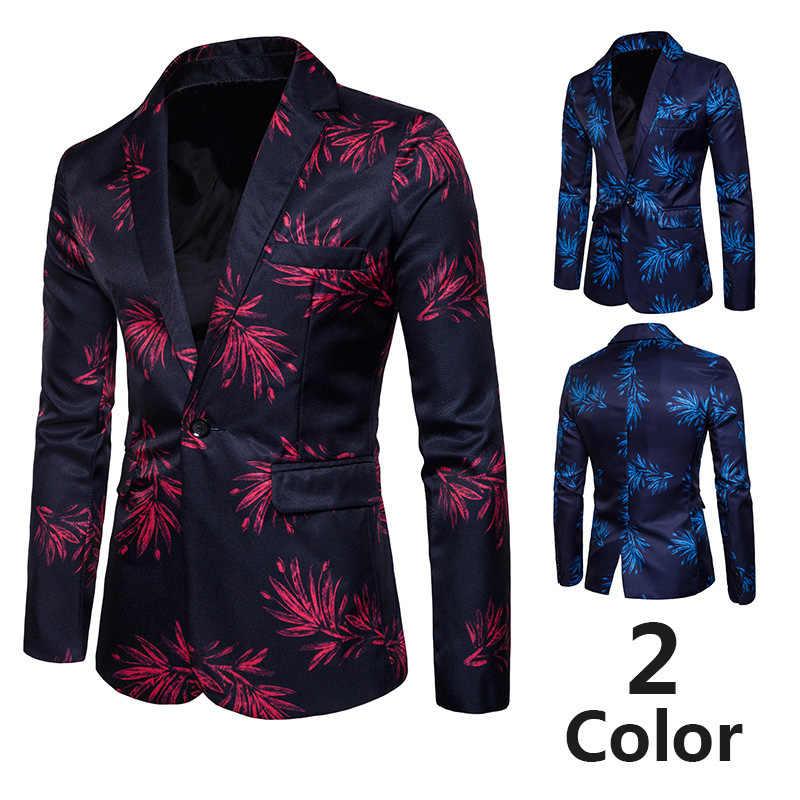 Повседневный мужской костюм, куртки 2019, новый дизайн в деловом стиле, мужские облегающие костюмы, модный блейзер с цветочным принтом, мужское платье для выступлений на сцене, костюм Y