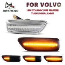 30722641 3072264 Voor Volvo V70 S60 S80 XC70 XC90 2000 2009 2 Stuks Led Dynamische Front Side Marker Turn signaal Indicator Lamp Licht