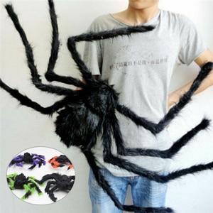 Spider Halloween Spiders Decor Haunted House Props Indoor Outdoor Giant Spider House Prop Spider Web White Stretchable Cobweb(China)