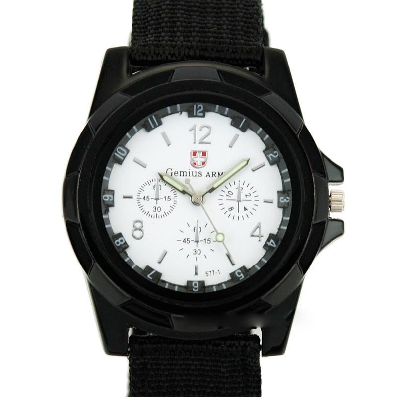 Reloj de moda para hombre, reloj de pulsera deportivo Shark para hombre, reloj militar luminoso delgado de 24 horas, reloj analógico de nailon, gran oferta