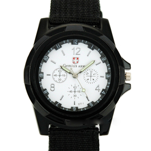 Fashion Watch Men Brand New Shark Men's Sport Quartz Wrist Military Watch Luminous Slim 24Hrs Analog Nylon Hot Sale