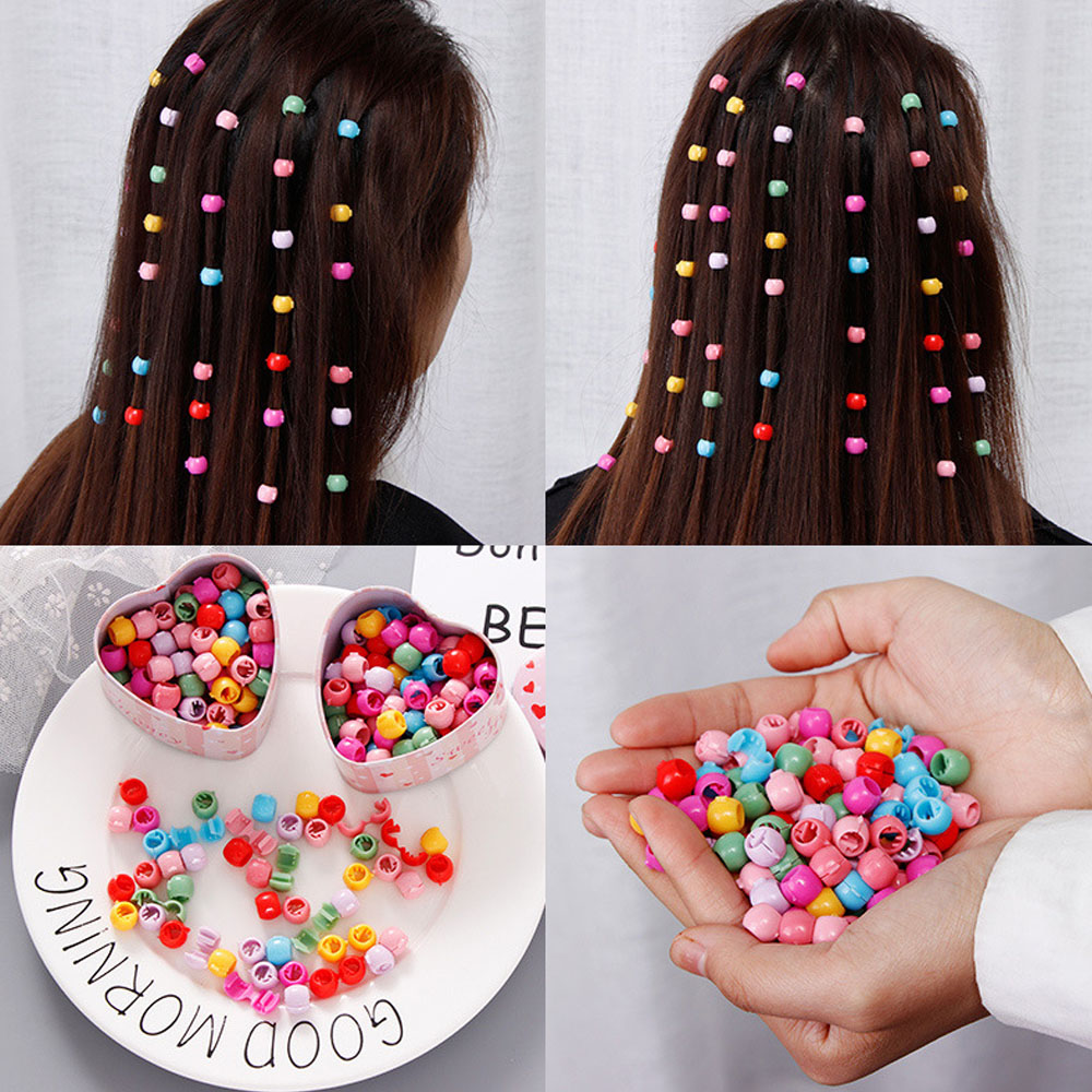 2021 New Korea Lovely Beads Hairpin For Girls Candy Colors Plastic Mini Hair Clips Barrette Headwear Hair Accessories
